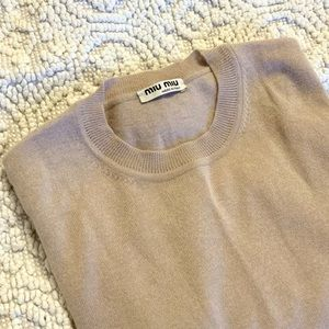 Miu Miu Cashmere Silk Blend Sweater XS